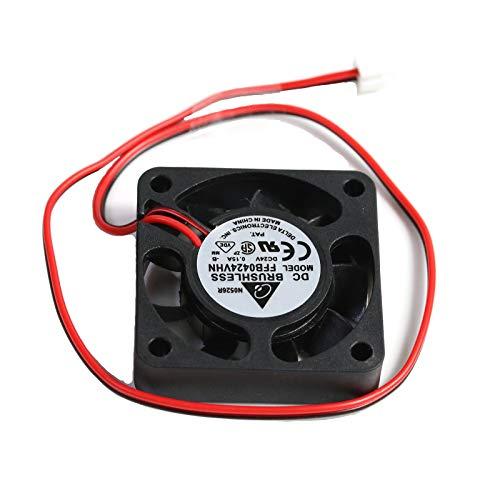 3CTOP Ventilador de refrigeración sin escobillas DC 4010 24 V DC Axial Ventilador 40 x 40 x 10 mm, 2 pines para impresora 3D, PC, funda, CPU y otros pequeños electrodomésticos, 2 unidades