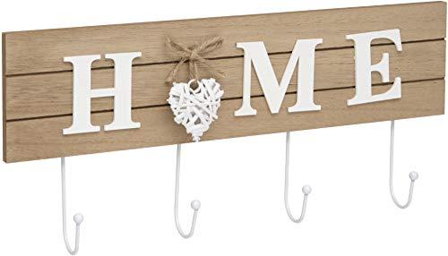 Maturi Gancho para Abrigos de hogar con diseño de corazón, marrón, 40 x 16 cm
