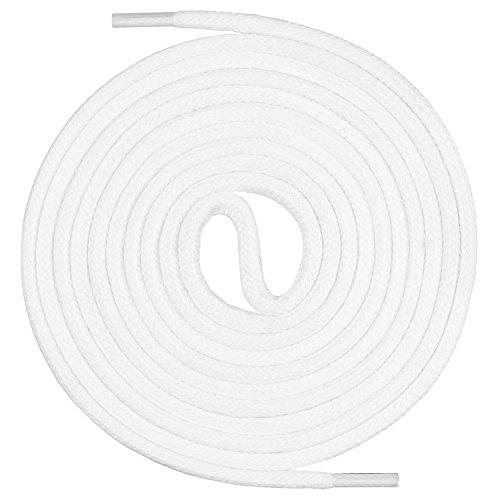 Mount Swiss runde Premium-Schnürsenkel aus 100% Baumwolle - sehr reißfest Farbe Weiß Länge 120cm