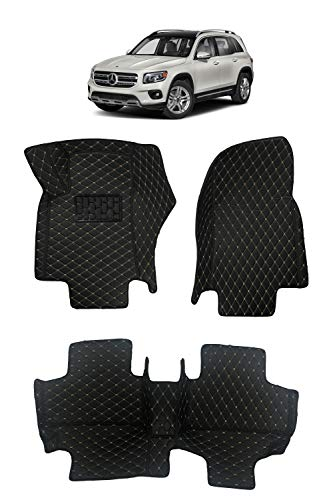 Custom Fit [Made in USA] All Weather Heavy Duty Full Coverage Floor Mat Floor Protection [1st and 2nd Row] for 2020 2020 Mercedes Benz GLB Class GLB 250 4 Matic - Black Single Layer