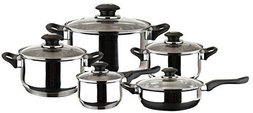 MAGEFESA FAMILY – Batería de Cocina MAGEFESA FAMILY 10 Piezas está Fabricada en Acero Inoxidable. Fácil Limpieza y Apta lavavajillas. Asas de bakelita toque soft - cold