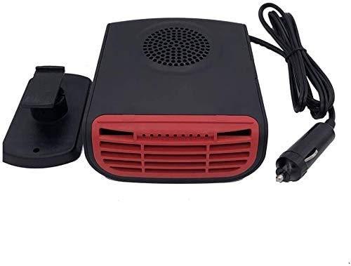 Queta Autoheizung Tragbare 150 Watt (12 V Heizung) Hochleistungs-Defogging-Defroster Heizung und Kühlung Doppelschalter geräuschlos und Aromatherapie (Rot)