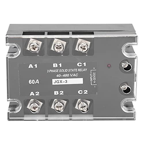 3‑Fase SSR, con abdominales, Aluminio La temperatura Resistencia Polvo Prevención Estado Relé Módulo