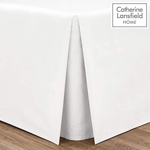 Catherine Lansfield BDB1 8277 WDBPV1 - Faldón para cama 38 x 135 x 190 cm (percal, no necesita planchado), color blanco