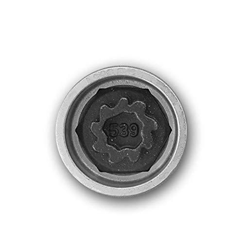 Security Master - Llave de tuerca antirrobo para rueda 539 o W para VW y Volkswagen