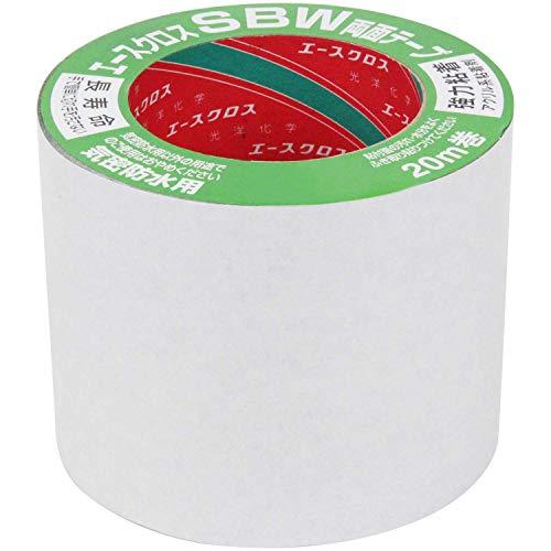 光洋化学 気密防水テープ エースクロス アクリル系強力粘着 両面テープ 剥離紙付 SBW 黒 100mm×20m 10巻セット