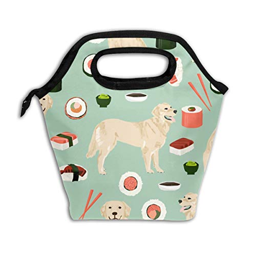 Lao Yang Mai Yellow Lab Dog Cute Sushi Japanese Best Rice School Lunch Containers Bag Pail Pack Accessories Tote Ice Cooler Insulated Reusable Box Hot Food Bento Warmer Prep Set Kit Decorations