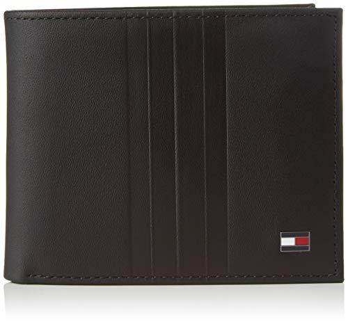 Tommy Hilfiger Herren Th Metro Mini Cc Wallet Geldbörse, Schwarz (Black), 1x1x1 cm