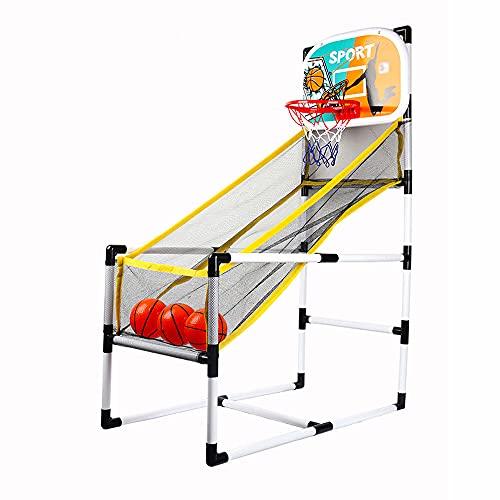 Lixada Juego de Arcade de Baloncesto para Interiores/Exteriores, Máquina de Baloncesto de un Solo Tiro,Plegable con 3 Pelotas de Baloncesto para Niños