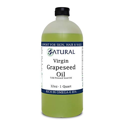 GrapeSeed Oil-Cold Pressed, Virgin, Undiluted, 100% Pure Grape Seed Oil (32 Ounce)