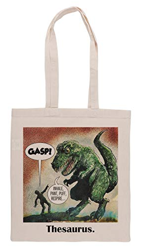 Luxogo Los Solamente Sobreviviente Dinosaurio Tesauro Bolsa De Compras Groceries Beige Shopping Bag