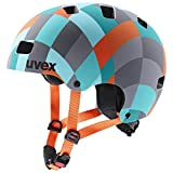 Uvex Unisex Jugend, kid 3 cc Fahrradhelm, green checkered, 55-58 cm