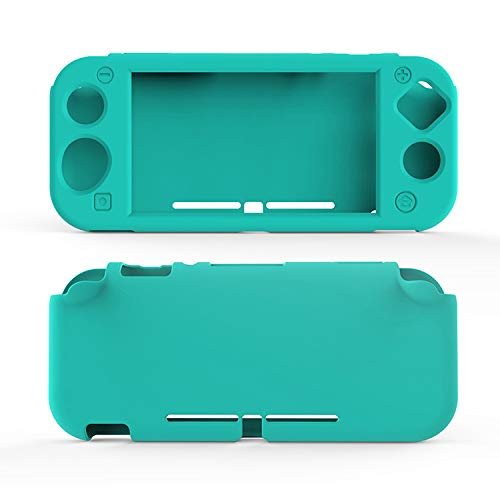 Silicone Case for Nintendo Switch Lite, Soft Case for Nintendo Switch Lite with Tempered Glass Screen Protector - Turquoise