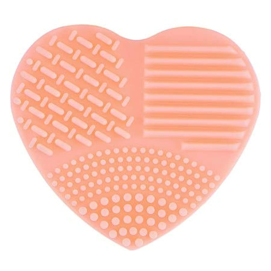 Set Women - Colorful Heart Shape Clean Make Up Brushes Wash Brush Silica Glove Scrubber Board Cosmetic Cleaning Tools For Makeup - Canoda