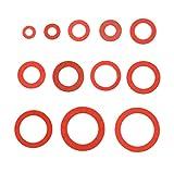 Anillo de sellado plano 600 unids 12 tamaños Red Acero Papel Fibra Plana...
