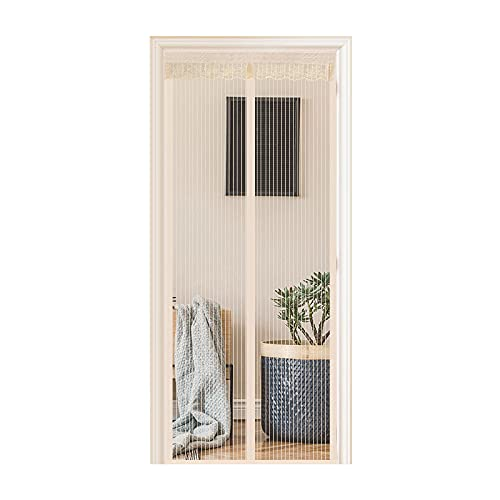 HAOANGZHE Mosquitera Puerta, La Pantalla electromagnética es Muy Adecuada para Puertas de balcón, Puertas de sótano y Puertas de terraza, Pegamento fácil de ensamblar, sin Necesidad de t