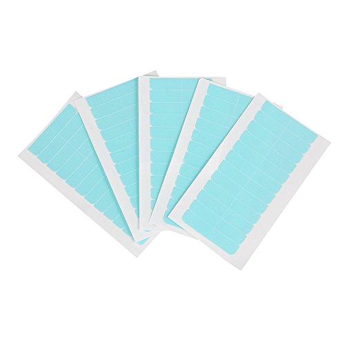 Kalolary 120 Pieza Cinta de Extensión de Pelo, Doble Cara Invisible Ultrarresistente Reemplazo Tape Adhesivas para Trama del Cabello y Extensión de Cabello