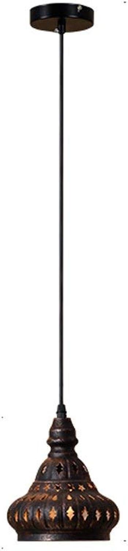 WENYAO Die Erntezeit Retro Hohleisen Kronleuchter Bar Kronleuchter -E27 (Farbe  1)