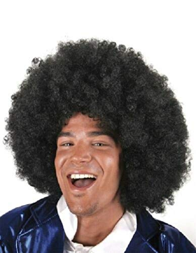 60S 70s Funky Afro Fancy Funny Black Wig Costume Accessory Unisex Adult Halloween Party Cosplay Anime