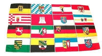 Fahne / Flagge Deutschland 16 Bundesländer 60 x 90 cm by FahnenMax®