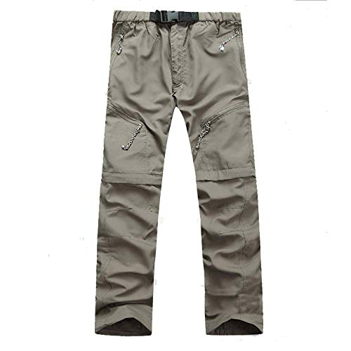 N/ A Quick-Drying Pants Outdoor Breathable Shorts Solid Color Mountaineering Pants Khaki
