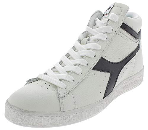 Diadora Men's High Hi-Top Trainers, White Bianco Nero C0351,...