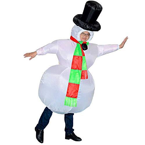 nobrands Dinosaurios para Nios De Halloween Disfraces Inflables De Navidad Disfraces De Rendimiento para Adultos Fiesta Disfraces Inflables De Tiranosaurio Diversin Talla nica/Mueco de Nieve