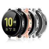 Compatible for Galaxy Watch Active 2 Case 40mm, 4 Pack Full Coverage TPU Bumper Screen Pro...