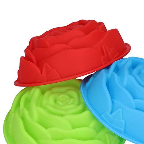 Moldes de silicona para hornear con forma de flor Pan, pastel, silicona flexible sin olor peculiar para pasteles de pan