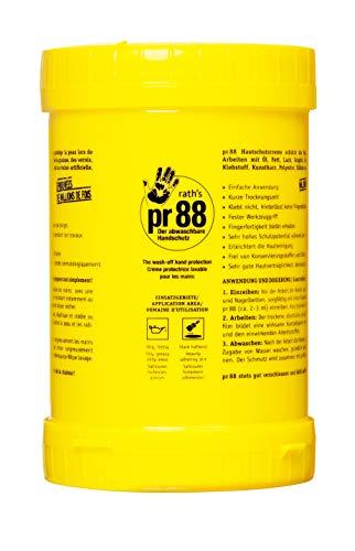 Rath's 090-100 Hautschutz Pr88 1000 ml, Hautschutzcreme, wirkt wie Einweghandschuhe, perfekt für KFZ-Werkstatt im Umgang mit Öl