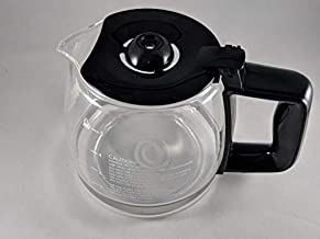 Compatible with Kenmore 100.8050990A 5 CUP Coffee Maker (CARAFE POT ONLY. DOES NOT INCULDE COFFEE MAKER. Black Color Handle & Lid)