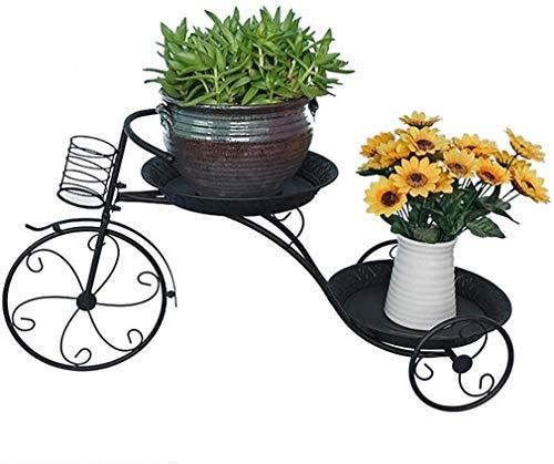 DHRB 4 Capas Planta de Bicicleta Soporte de Flores, Soportes de Plantas Soporte de Metal Planta Pantalla de Pantalla Estantes de Rack Pot Soporte para Oficina para el hogar Decoración de jardín 0202
