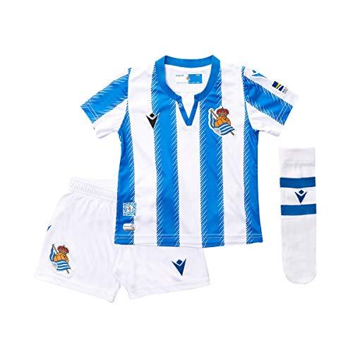 Macron Bebe Real Sociedad Primera Equipación 2019-2020, Conjunto, Blue-White, Talla 1/2Y