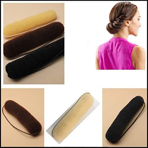 Grids London Styling-Utensil Hollywood, Haar-Kissen in Rollenform mit elastischem Band, für eine Frisur im Vintage-Stil, Blond
