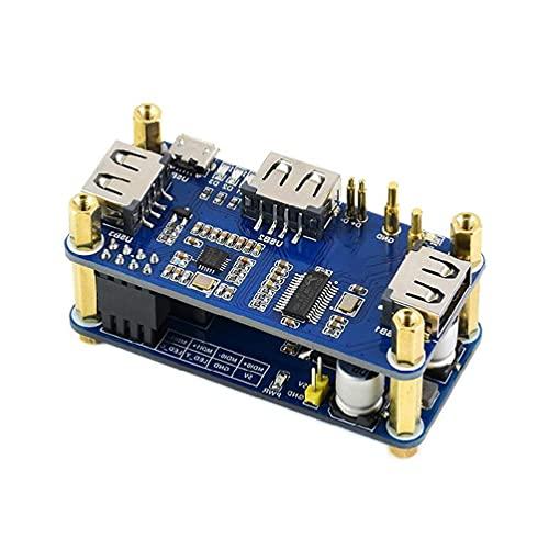 PoE Ethernet USB HUB HAT RJ45 10M/100M Ethernet puerto 3xUSB2.0 802.3af - Conforme red Poe/ETH/USB hub hat