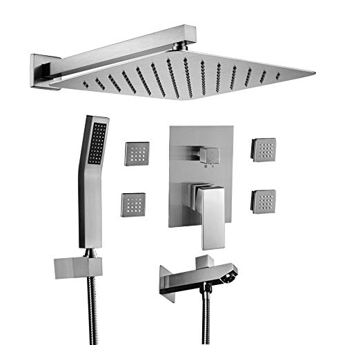 Acefy Shower Systems with Body Sprays and Tub Spout, Shower Faucet Valve and Trim Kit Included...