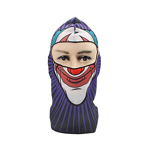 Mingdan water 3D cráneo de la Motocicleta del pasamontañas Mascarilla Facial Caliente del Motor Casco Liner esquí Paintball Snowboard Motorista de equitación Cara Protector de la Capilla,A