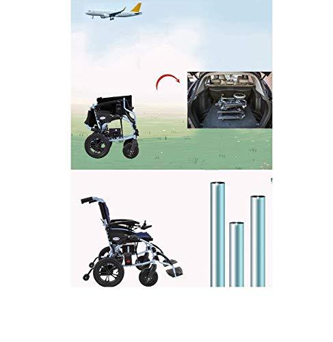 Lunzi Kompakter Elektrorollstuhl mit Mittelantrieb, Lite Cruiser Deluxe - persönliches Mobilitätsgerät Intelligente elektronische Bremse Kann im Flugzeug sein, Kann in die U-Bahn gehen, Manueller Rol