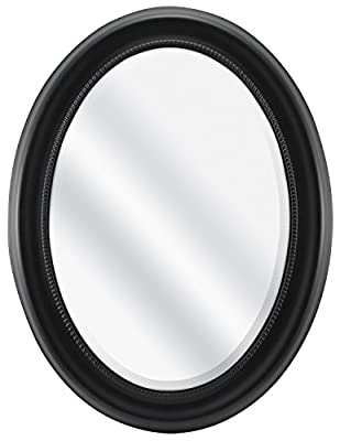 MCS Silver Beaded Oval Wall Mirror, 21-Inch by 31-Inch