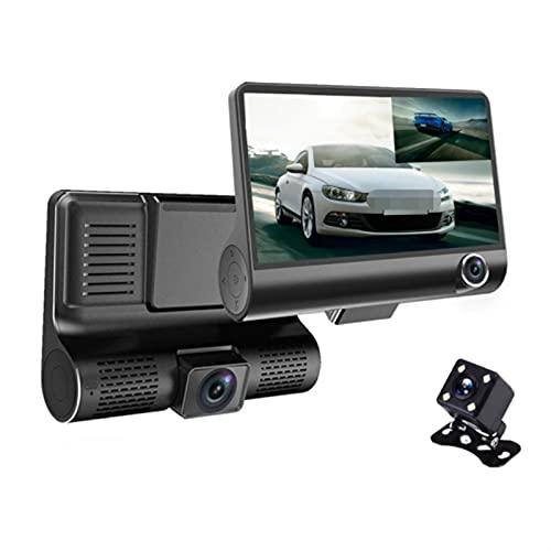 GCS Gcsheng Coche DVR 4'Three Lens Cámara de Coche Dash Clay Cy Cy Cycing Registrador Registrador de Video grabadora de videocámaras DVRS Registrador G-Sensor (SD Card Memory : with 32GB)