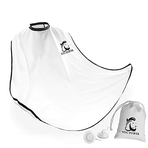 Upgrade beard apron shaving hair catcher with quality Suction Cups Adjustable Neck Straps | beard catcher apron beard cape, beard care apron, beard apron cape, beard kit essential item for men