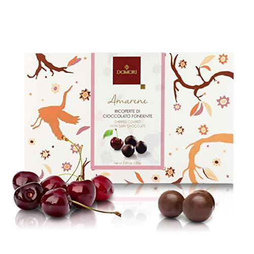 Domori Amarene Ricoperte Di Cioccolato Fondente Arriba 62%, 150 Grammi
