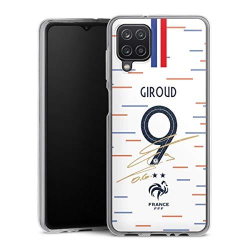 DeinDesign Silikon Hülle kompatibel mit Samsung Galaxy A12 Case transparent Handyhülle Giroud Nationalmannschaft Trikot