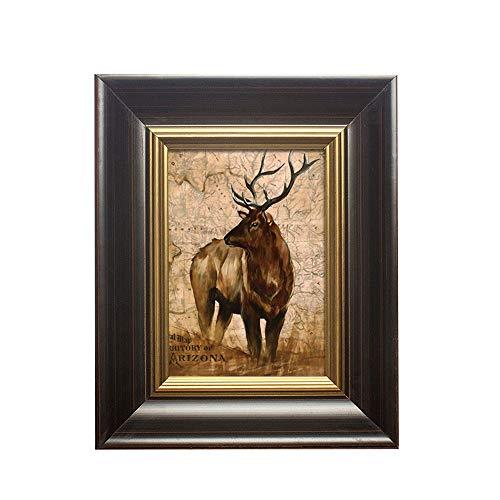 Hout Picture Frame met glazen pui, Rustieke Handgemaakte fotolijsten for Table Top Display en wandmontage (Color : Coffee, Size : 7 inch)