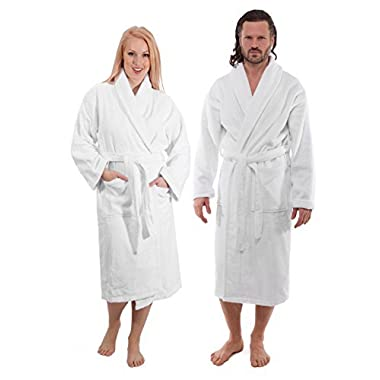 classicturkishtowels.com Luxury Terry Cotton Cloth Plush Bathrobe - Premium Cotton Hotel and Spa Robes for Men and Women - Made with 100% Turkish Quality Cotton (Medium)