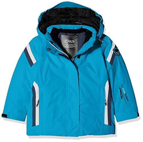 CMP Mädchen Jacke Wattierte 3000 Taslan Skijacke, Blue Jewel, 140, 38W0375