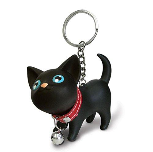 JOYJULY Katze Kätzchen Schlüsselanhänger Kette Kawaii Entzückende Tasche Anhänger Spielzeug Liebhaber Kinder Schlüsselbund Schlüsselring Schlüsselringe