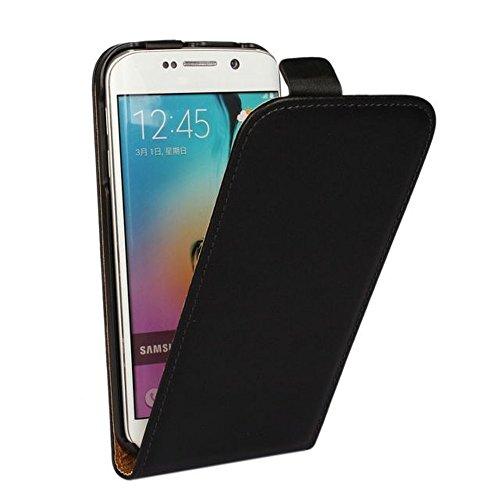 MPG Flip Hülle Hülle für Sony Xperia Z1 Compact, Handyhülle Schwarz, Tasche Handytasche Schutzhülle mit Magnet-Verschluss