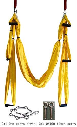 BLI 6 Farbe Stärke Dekompression Yoga Hängematte Inversion Trapez Anti-Schwerkraft Luft Traktion Yoga Gym Strap Yoga Schaukel Set Russische Föderation Gelb