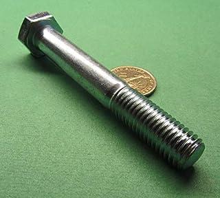 M14 x 220mm PART THREADED BOLTS HEX HEXAGON HEAD SCREWS HALF THREAD ZINC PLATED